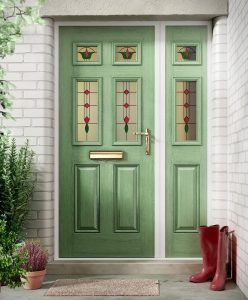 Traditional chartwell green composite front door