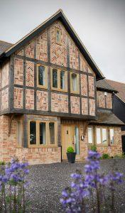 Full oak effect Residence flush sash windows installation