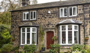 White uPVC heritage casement windows installation