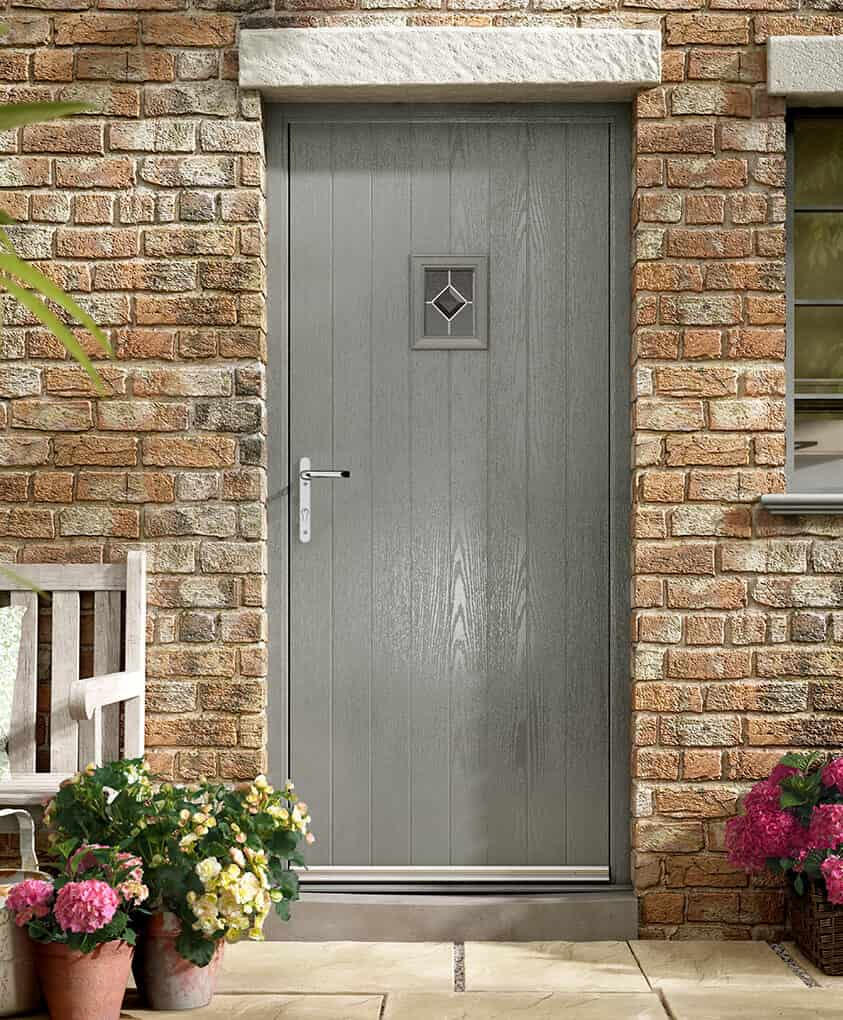 Agate grey composite door