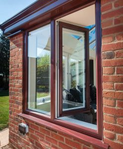 Rosewood uPVC tilt and turn window