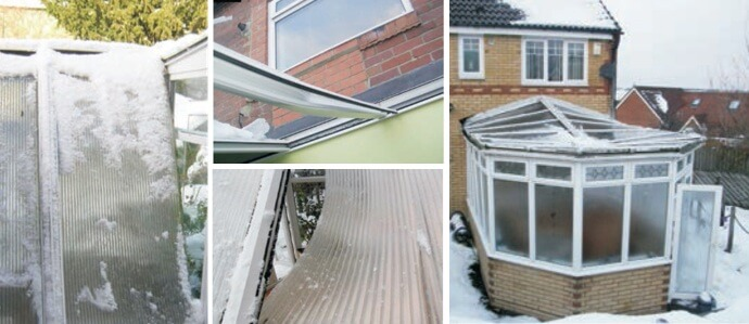 Destroyed conservatory roof