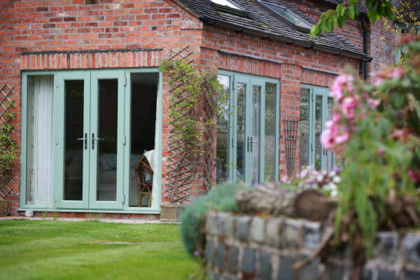 Green Aluminium French Door