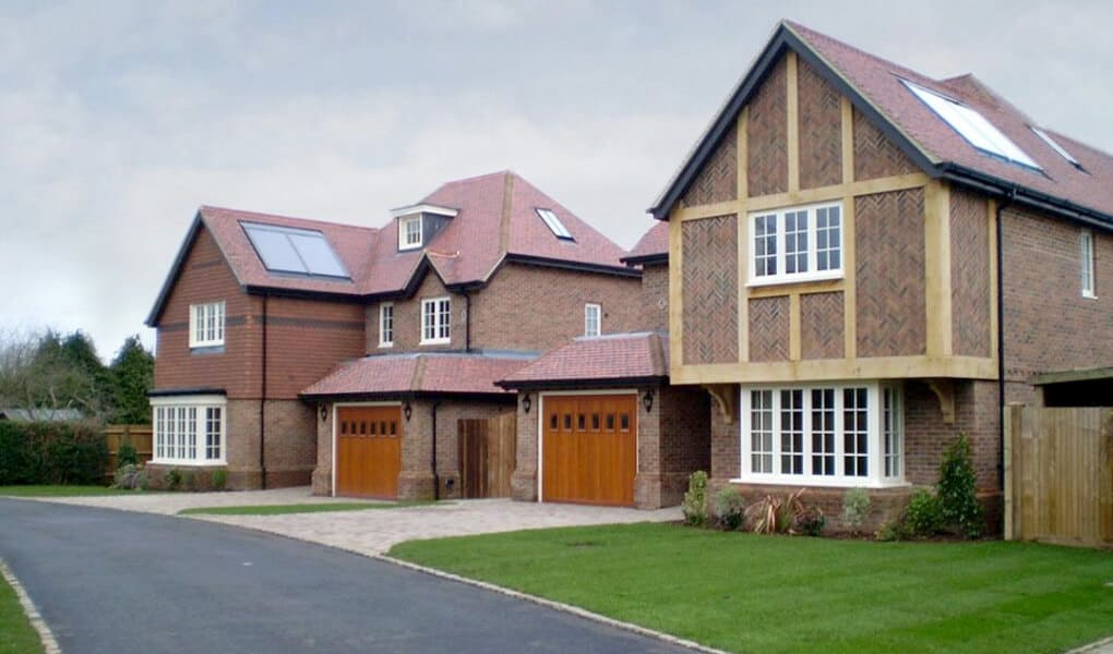 White timber casement windows installation