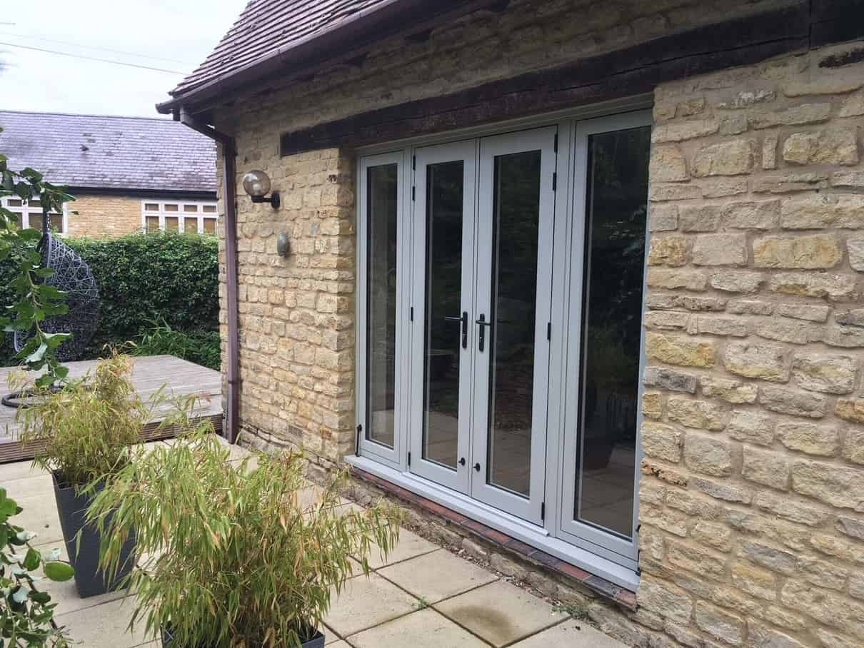 Grey Aluminium Patio Door